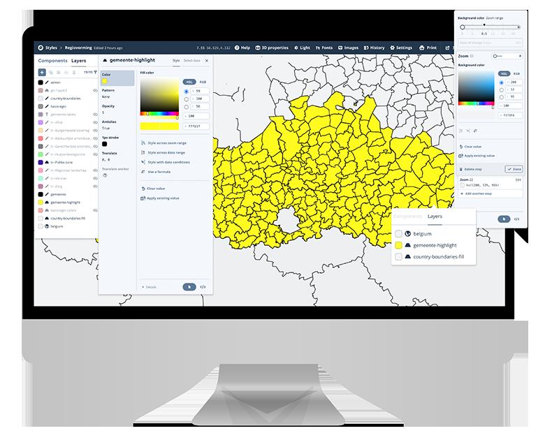 Studio Mapbox interface