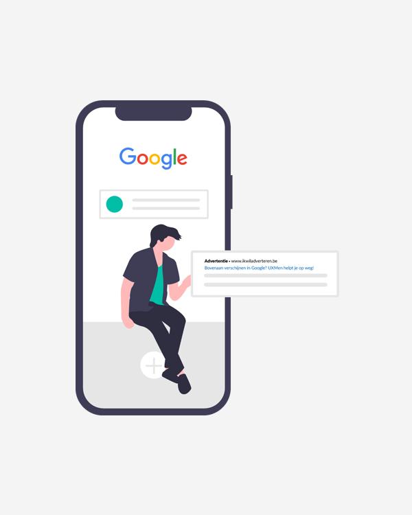 Google steunt en biedt advertentietegoed